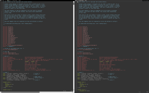 Screenshot of VIM theme relaxed